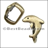 Regaliz® DOLPHIN spacer ANT. BRASS - per 10 pieces