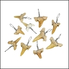 Small Moroccan Shark Teeth - Silver Wired - 25 pcs