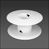 Blank White Spool EXTRA SMALL - per 1 piece