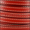 10mm flat STITCHED leather RED - per 2 meters
