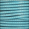 5mm flat STITCHED leather PASTEL TURQUOISE - per 5 meters