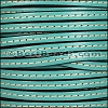 5mm flat STITCHED leather PASTEL EMERALD GREEN - per 5 meters