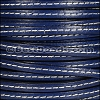 5mm flat STITCHED leather ELECTRIC BLUE - per 5 meters