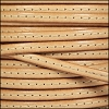 5mm flat STITCHED leather NATURAL - per 5 meters