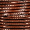5mm flat STITCHED leather MAHOGANY - per 5 meters
