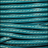 5mm flat STITCHED leather TURQUOISE - per 5 meters