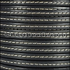 5mm flat STITCHED leather GREY - per 5 meters