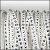 3mm Flat Faceted Stud Faux Suede WHITE - per 5m SPOOL