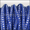 3mm Flat Faceted Stud Faux Suede SAPPHIRE - per 5m SPOOL