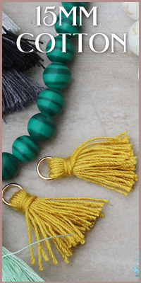 15mm Cotton Ring Tassels