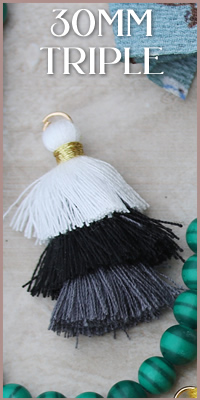 30mm Triple Tassels