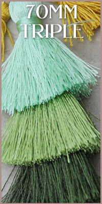 70mm Triple Tassels