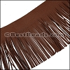 Suede Fringe Leather MAHOGANY - 16