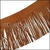 Suede Fringe Leather TERRACOTTA - 16