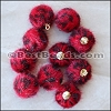 Fur Pompom RED - per 10 pieces