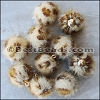 Fur Pompom BEIGE - per 10 pieces
