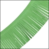 Tassel Fringe Leather GREEN - per 1 foot