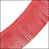 Tassel Fringe Leather RED - 1 foot