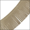 Tassel Fringe Leather TAUPE - 1 foot