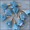 30mm Fabric Tassel : BLUE - per 10 pieces