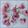 30mm Fabric Tassel : DUSTY PINK - per 10 pieces