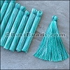 Long Variegated Tassel : TEAL - per 10 pieces