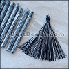 Long Variegated Tassel : BLACK - per 10 pieces