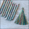 Long Variegated Tassel : MIX - per 10 pieces