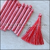 Long Variegated Tassel : RED - per 10 pieces