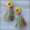 Woven Loop Tassel : MULTI - per 4 pieces