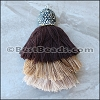 Large BLING Triple Tassel : BEIGE - 1 piece