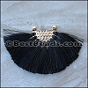 Tassel FAN PENDANT : BLACK - per 1 piece