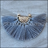 Tassel FAN PENDANT : GREY - per 1 piece