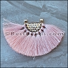 Tassel FAN PENDANT : PEACH - per 1 piece