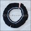 18mm Silky Tassel : BLACK - per 50 pieces