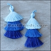 70mm TRIPLE TASSEL : BLUE - 2 pcs
