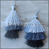 70mm TRIPLE TASSEL : GREY - 2 pcs