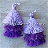 70mm TRIPLE TASSEL : PURPLE - per 2 pieces