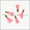 12mm GOLD : PINK Tassel - per 10 pieces