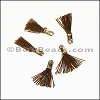 12mm GOLD : BROWN Tassel - per 10 pieces