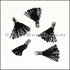 12mm SILVER : BLACK Tassel - per 10 pieces