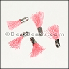 12mm SILVER : PINK Tassel - per 10 pieces