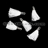 12mm SILVER : WHITE Tassel - per 10 pieces