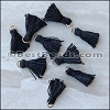 15mm RING : BLACK Tassel - per 10 pieces