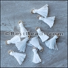 15mm RING : WHITE Tassel - per 10 pieces