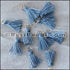 15mm RING : GREY Tassel - per 10 pieces