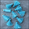 15mm RING : TURQUOISE Tassel - per 10 pieces