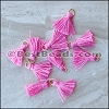 15mm RING : PINK Tassel - per 10 pieces