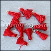 15mm RING : RED Tassel - per 10 pieces
