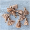 15mm RING : CAMEL Tassel - per 10 pieces